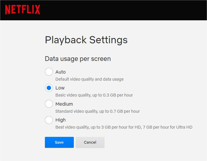 netflix playback settings